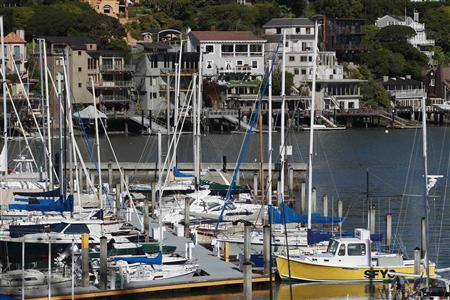 Sailboats are seen docked at the San Francisco Yacht Club in Belvedere, California April 15, 2012. REUTERS/Stephen Lam