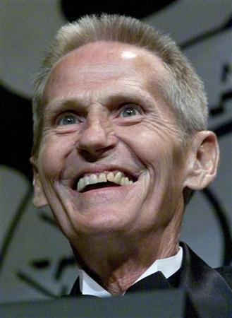 Legendary rock drummer Levon Helm is all smiles as a presenter the 22nd annual W.C. Handy Awards show at the Orpheum Theatre in Memphis, May 24, 2001 in this file photo.