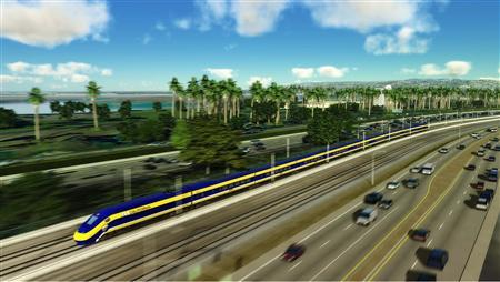 An undated artist's illustration courtesy of the California High-Speed Rail Authority. REUTERS/Handout