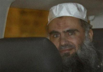 Jordanian preacher Abu Qatada is driven from a Special Immigration Appeals Commission (SIAC) hearing in central London April 17, 2012. REUTERS/Stefan Wermuth