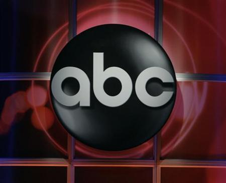The logo of the ABC television network is pictured during the ABC network presentation to the Television Critics Association in Pasadena, California July 19, 2006. REUTERS/Fred Prouser/Files