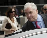 Conrad Black and his wife Barbara Amiel leave federal court in Chicago, June 24, 2011. REUTERS/John Gress