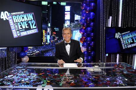The legendary Dick Clark celebrates 40 years of ringing in the New Year on the ABC Television Network, in Times Square, in New York, December 31, 2011. Clark has died of a heart attack, his publicist confirms, April 18, 2012. REUTERS/ABC/Ida Mae Astute/Handout