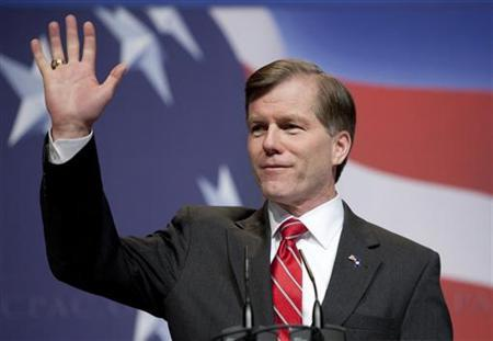 Virginia Governor Bob McDonnell speaks at the Conservative Political Action Conference (CPAC) during their annual meeting in Washington, February 19, 2010. REUTERS/Joshua Roberts