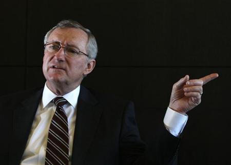 4月19日、日本板硝子のクレイグ・ネイラー前社長兼CEOは、突然辞任した理由について、会社の戦略やその進め方について取締役会との意見の相違があったためと説明した。写真は2010年撮影(2012年 ロイター/Michael Caronna)