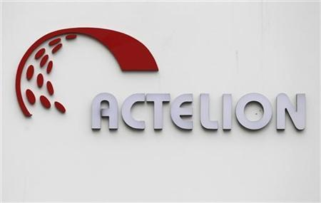 A logo is seen on Swiss biotech group Actelion Headquarters in Allschwil near Basel, April 23, 2011. REUTERS/Christian Hartmann