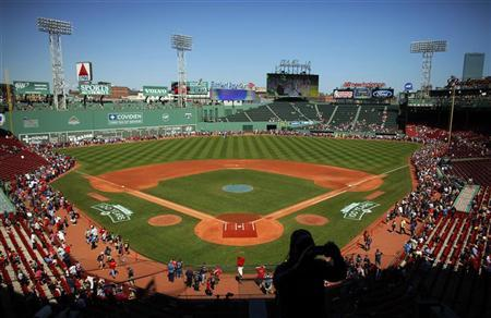 Fans tour Fenway Park during an open house at the ballpark in Boston, Massachusetts April 19, 2012 ahead of Fenway Park's 100th anniversary celebration on April 20. REUTERS/Brian Snyder