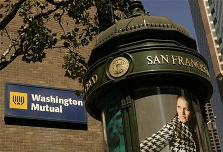 A Washington Mutual Bank (WaMu) branch is shown in San Francisco, California September 26, 2008. REUTERS/Robert Galbraith