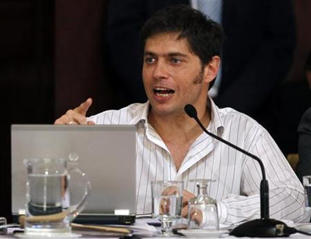Axel Kicillof, deputy economy minister and controller of YPF gas and oil company, speaks at the Argentine Senate in Buenos Aires April 17, 2012. REUTERS/Marcos Brindicci