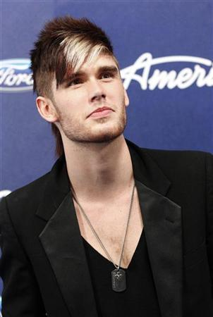 Contestant Colton Dixon poses at the party for the finalists of the television show ''American Idol'' in Los Angeles, California March 1, 2012. REUTERS/Mario Anzuoni