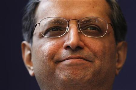 Vikram Pandit, Chief Executive Officer, Citi, of the U.S., Co-Chair of the World Economic Forum Annual Meeting 2012, attends a session at the World Economic Forum (WEF) in Davos, January 25, 2012. REUTERS/Christian Hartmann