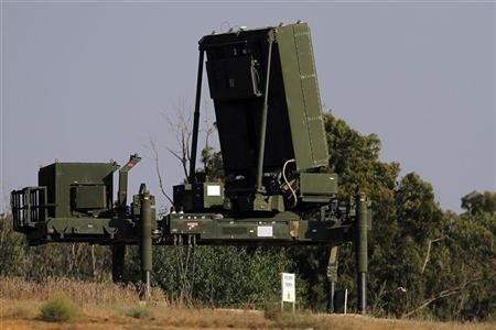 The radar for an Iron Dome short-range rocket interceptor is seen near the southern city of Ashkelon in this picture taken September 7, 2011. REUTERS/Amir Cohen