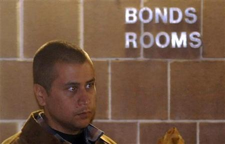 Neighborhood watch volunteer George Zimmerman leaves the Seminole County Jail after posting bail in Sanford, Florida, April 22, 2012. REUTERS/David Manning