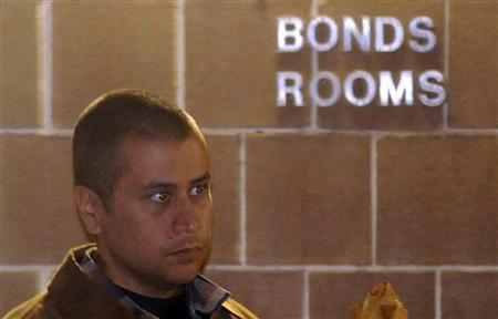 Neighborhood watch volunteer George Zimmerman leaves the Seminole County Jail after posting bail in Sanford, Florida, April 22, 2012. REUTERS/David Manning