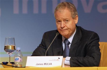 ConocoPhillips CEO and Chairman James Mulva attends the 20th World Petroleum Congress in Doha December 6, 2011. REUTERS/Mohammed Dabbous