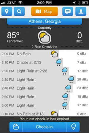 Screenshot of the new weather-forecasting app ''Ourcast'', obtained on April 24, 2012. REUTERS/Handout