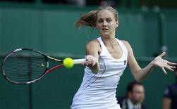 Анна Чакветадзе на Уимблдонском теннисном турнире в Лондоне, 21 июня 2011 г. Российская теннисистка Анна Чакветадзе не смогла пройти дальше первого круга на турнире Stuttgart Grand Prix в Германии.  REUTERS/Stefan Wermuth