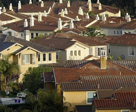 A house sits for sale in newly built subdivision of single family homes in San Marcos, California February 29, 2012. REUTERS/ Mike Blake