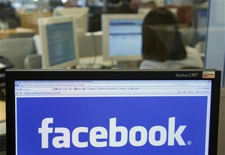 The Facebook logo is displayed on a computer screen in Brussels April 21, 2010.REUTERS/Thierry Roge/Files