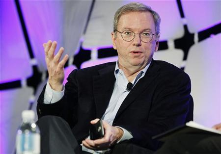 Google Executive Chairman Eric Schmidt speaks on a panel discussing ''The Next Big Thing'' on the opening day of the Consumer Electronics Show in Las Vegas January 10, 2012. REUTERS/Rick Wilking
