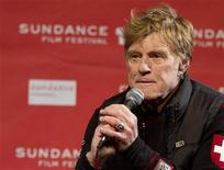 Robert Redford speaks at the opening news conference at the Egyptian Theatre during the first day of the Sundance Film Festival in Park City, Utah January 19, 2012. REUTERS/Jim Urquhart