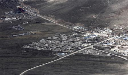 New houses are seen at an area affected by the 2010 earthquake in Yushu, Qinghai province, April 22, 2012. REUTERS/Carlos Barria