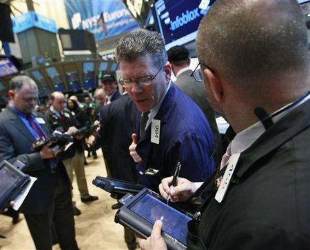 Traders work on the floor of the New York Stock Exchange, April 20, 2012. REUTERS/Brendan McDermid