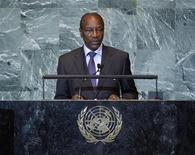 Guinea's President Alpha Conde addresses the 66th United Nations General Assembly at the U.N. headquarters, in New York, September 23, 2011. REUTERS/Chip East