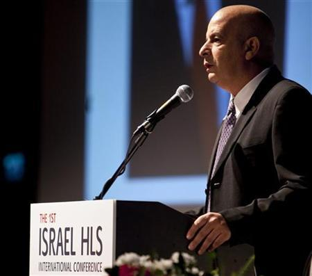 Yuval Diskin, Israel's former domestic intelligence chief, makes a public speech at a homeland security conference in Tel Aviv November 1, 2010. REUTERS/Nir Elias