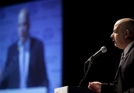 Yuval Diskin, Israel's former domestic security chief, makes a public speech at a homeland security conference in Tel Aviv in this November 1, 2010 file photo. REUTERS/Nir Elias/Files