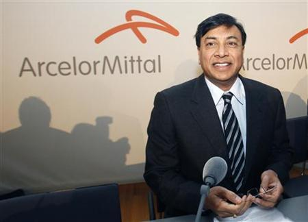 Chairman and Chief Executive Officer Lakshmi Mittal listens to a question as he presents the year 2009 results of Arcelor Mittal steel group during a news conference in Luxembourg February 10, 2010. REUTERS/Thierry Roge/Files