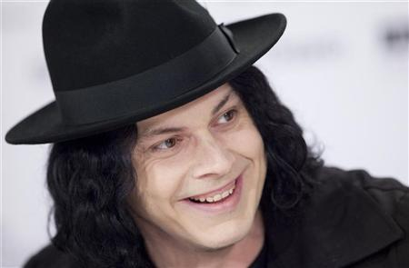 Jack White of the film ''White Stripes: Under the Great White Northern Lights'' speaks at a press conference during the 34th Toronto International Film Festival, September 18, 2009. REUTERS/Mark Blinch
