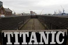 A general view of the dock in East Belfast where the Titanic was built. January 17, 2012. REUTERS/Cathal McNaughton