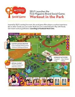 A handout image showing a screen grab of Self magazine's video game ''Workout in the Park''. REUTERS/Handout