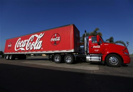 A Coca-Cola truck fills up with diesel fuel at a gas station in Carlsbad, California, March 20, 2012. REUTERS/ Mike Blake