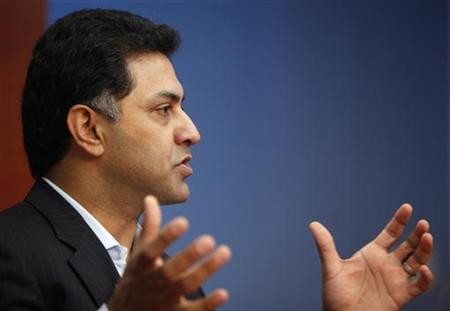 Nikesh Arora, President, Global Sales Operations and Business Development for Google, speaks at the Reuters Global Media Summit in New York, December 3, 2009. REUTERS/Brendan McDermid/Files