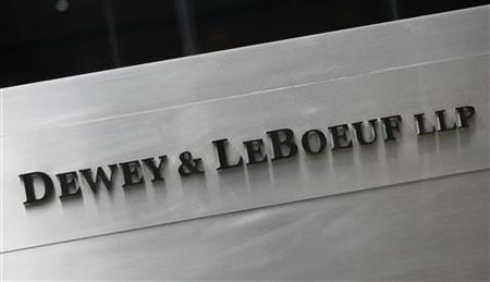 A sign marking the Dewey & LeBoeuf LLP headquarters on Sixth Avenue is seen in New York April 20, 2012. REUTERS/Shannon Stapleton