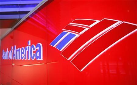 A Bank of America logo can be seen in a bank branch in New York April 28, 2009. REUTERS/Lucas Jackson