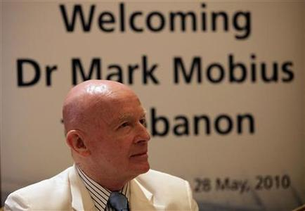 Templeton Asset Management's Mark Mobius attends a conference in Beirut, May 28, 2010. REUTERS/Cynthia Karam/Files