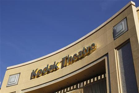 Signage for the theatre in the Hollywood & Highland shopping complex, site of the 84th annual Academy Awards, shows ''Kodak Theatre'' in Hollywood February 22, 2012. The Eastman Kodak Co. obtained approval of a bankruptcy court February 15, 2012 to end its sponsorship deal with the Hollywood theatre which is the venue for the Academy Awards. REUTERS/Danny Moloshok