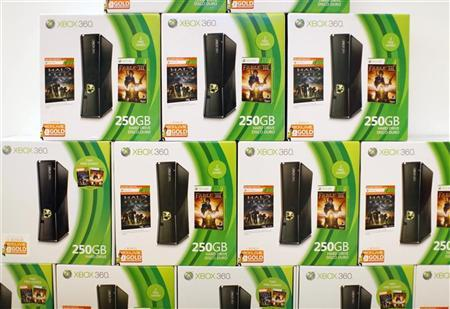 Microsoft Xbox 360 gaming console units are shown for sale at a Microsoft retail store in San Diego January 18, 2012. REUTERS/Mike Blake