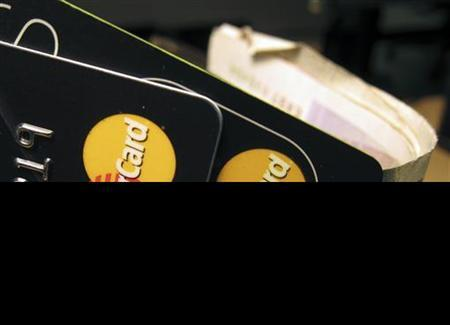 MasterCard credit cards are seen in this illustrative photograph taken in London December 8, 2010. REUTERS/Jonathan Bainbridge