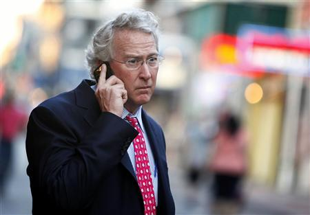 Chief Executive Officer, Chairman, and Co-founder of Chesapeake Energy Corporation Aubrey McClendon talks on his mobile phone as he walks through the French Quarter in New Orleans, Louisiana in this March 26, 2012 file photo. REUTERS/Sean Gardner/Files