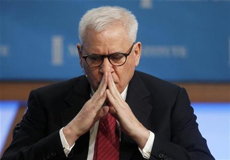 File photo of David Rubenstein, Co-Founder and Managing Director, The Carlyle Group is shown before the start of the panel discussion 'Global Overview: Uncertainty Is the Only Certainty' at the 2011 The Milken Institute Global Conference in Beverly Hills, California May 2, 2011. REUTERS/Fred Prouser