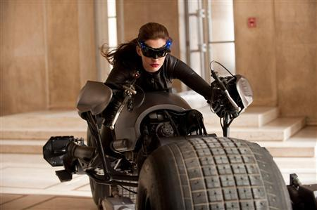 Anne Hathaway as Catwoman in ''The Dark Knight Rises.'' REUTERS/Ron Phillips/Warner Bros