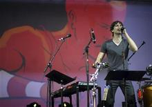 Gotye performs at the 2012 Coachella Valley Music and Arts Festival in Indio, California April 15, 2012. REUTERS/David McNew