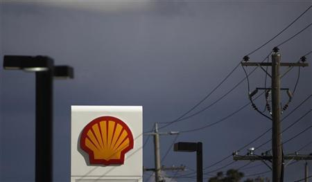 A Shell sign is seen at a petrol station in Melbourne. REUTERS/Mick Tsikas
