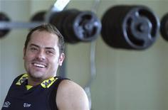 Ricardinho participa de treino da seleção brasileira de vôlei nesta sexta-feira em Saquarema (RJ). REUTERS/Sergio Moraes