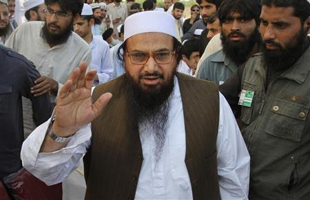 File photo of Hafiz Saeed, the head of Jamaat-ud-Dawa and founder of Lashkar-e-Taiba at a rally in Peshawar. REUTERS/Fayaz Aziz