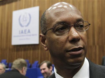 File photo of U.S. envoy Robert Wood attending an IAEA board of governors meeting in Vienna. REUTERS/Herwig Prammer